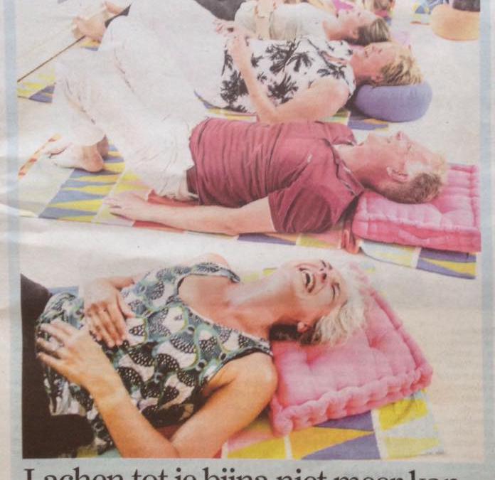 Een mooie Delftsblauwe Lach in het Algemeen Dagblad!