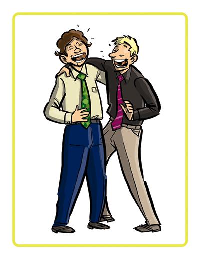 Lachmeditatie, lachende mannen